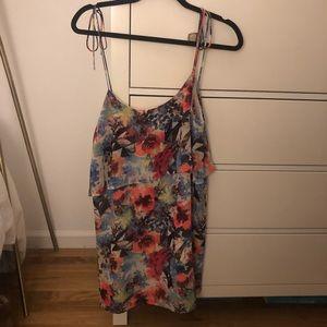 Multi-color Floral Tie Strap Summer Dress